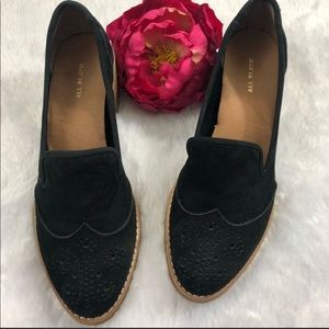 All Black loafers